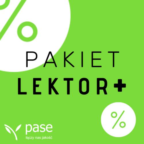 Pakiet Lektor +