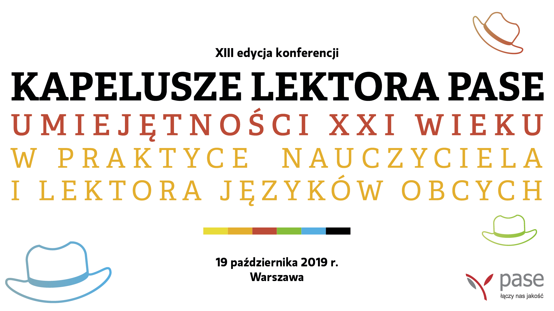 Kapelusze Lektora PASE 2019