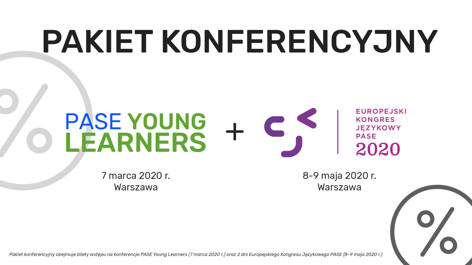 Pakiet konferencyjny: PASE Young Learners + Europejski Kongres Językowy PASE
