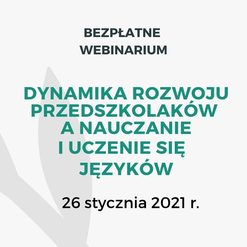 Webinarium z Bożeną Janiszewską - 26 stycznia 2021 r.